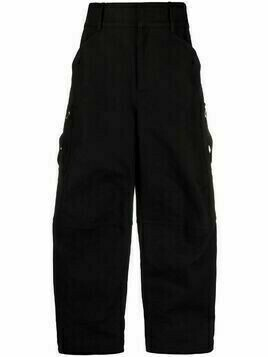 Bottega Veneta high-waist cargo trousers - Black