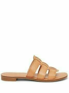 Mansur Gavriel Caprese leather slides - Brown