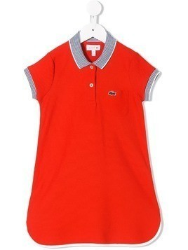 Lacoste Kids short sleeved polo dress - Red