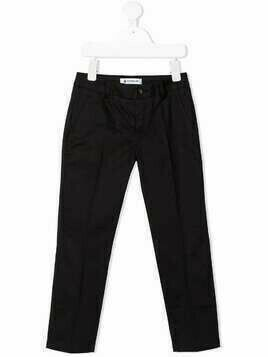 Dondup Kids straight-leg cotton chinos - Black