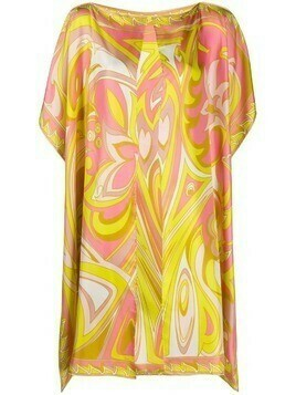Emilio Pucci abstract-print silk cover-up - Pink