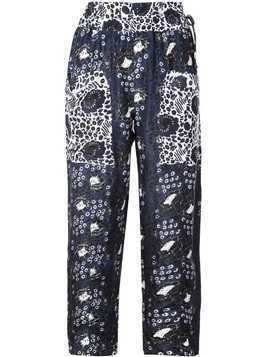 Apiece Apart high-waist silk trousers - Blue