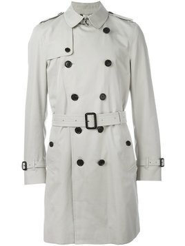 Burberry - Kensington long trench coat - Herren - Cotton/Viscose/Buffalo Horn - 52 - Nude & Neutrals