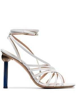 Jacquemus white les sandales pisa 120 leather sandals