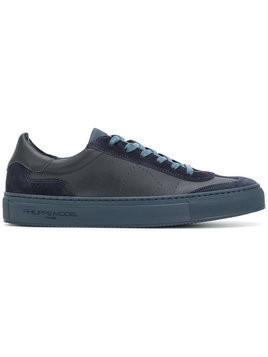 Philippe Model - Belleville sneakers - Herren - Cotton/Leather/rubber - 43 - Blue