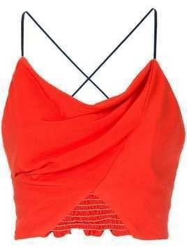 Manning Cartell cross strap cami top - Red