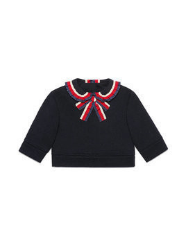 Gucci Kids Baby sweatshirt with Sylvie Web - Blue