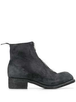 Guidi front zip ankle boots - Black