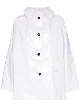Kassl patent hooded raincoat - White