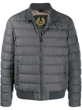 Belstaff Circuit logo patch padded jacket - Grey