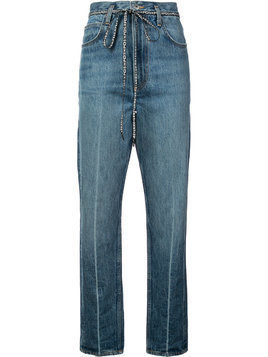 Proenza Schouler PSWL Cropped Flare Jeans - Blue