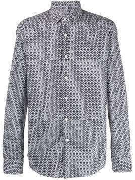 Salvatore Ferragamo geometric print shirt - Blue