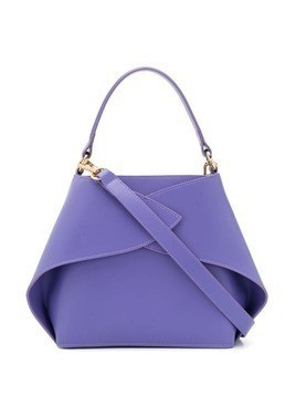 Giaquinto leather wrap detail tote - PURPLE