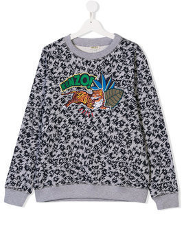 Kenzo Kids TEEN embroidered Tiger sweatshirt - Grey