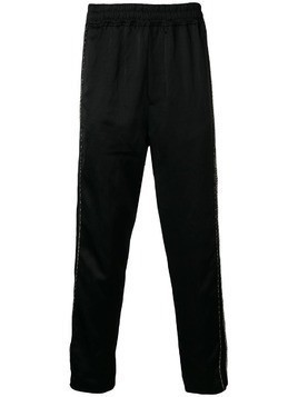 Damir Doma printed side stripe track pants - Black