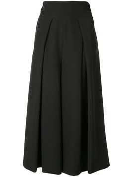 Milly cropped wide leg trousers - Black