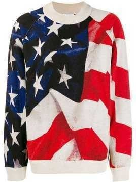 Ih Nom Uh Nit USA flag print jumper - Black