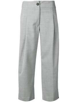 Semicouture side stripe cropped trousers - Grey