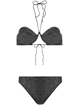 Oseree embellished bikini set - Black