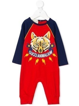 Gucci Kids colour block printed pyjama - Red