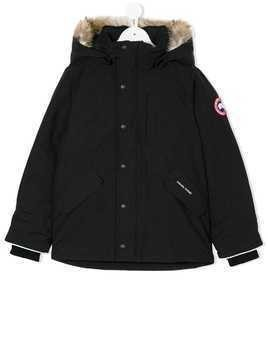 Canada Goose Kids coyote fur trim coat - Black