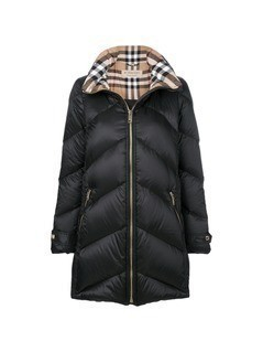 Burberry Chevron padded coat - Black