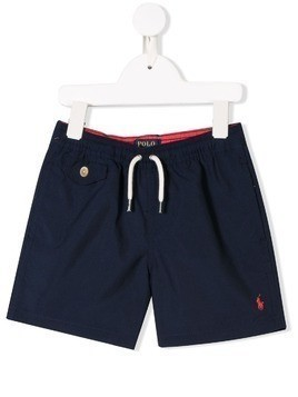 Ralph Lauren Kids Traveler swim shorts - Blue