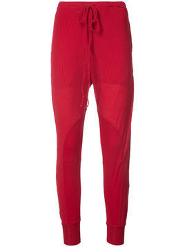 Lost & Found Ria Dunn ribbed knit trousers - Red