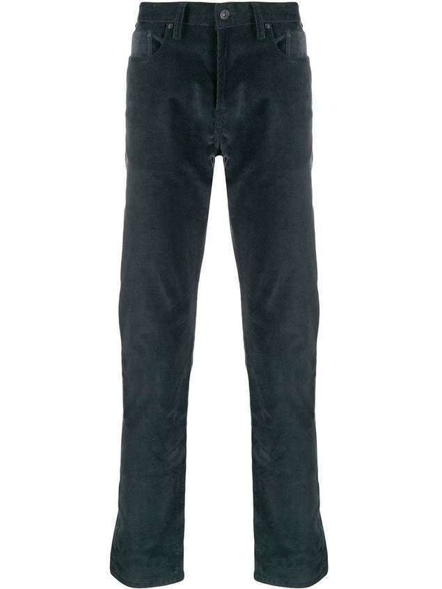 PS Paul Smith straight leg corduroy trousers - Blue