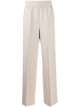 Agnona wide leg knitted trousers - NEUTRALS
