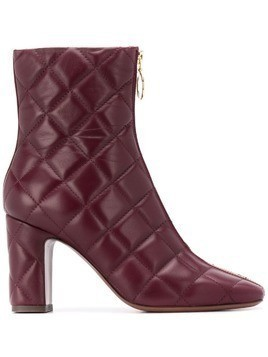 L'Autre Chose quilted zipped ankle boots - Red