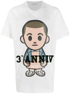 Ih Nom Uh Nit Big Eleven print T-shirt - White