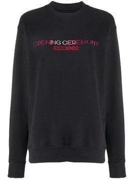 Opening Ceremony logo-print cotton sweatshirt - Black