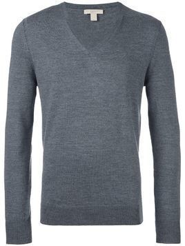 Burberry v neck jumper - Grey