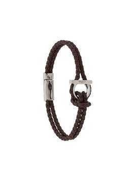 Salvatore Ferragamo braided leather bracelet - Brown
