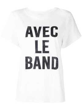 Cinq A Sept With The Band T-shirt - White