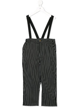 Little Creative Factory Kids striped dungarees - Black