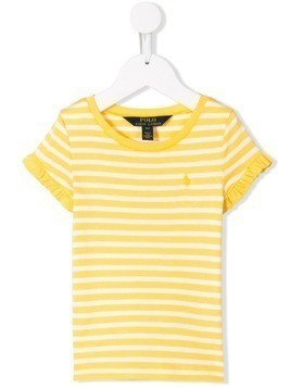 Ralph Lauren Kids striped T-shirt - Yellow