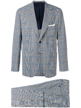 Kiton checked suit - Black