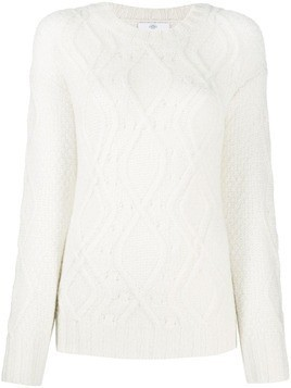 Allude chunky knit jumper - White