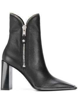 Alexander Wang zip detail ankle boots - Black