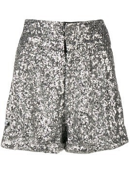 Isabel Marant Orta sequinned shorts - Silver