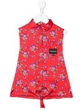 Calvin Klein Kids floral blouse - Red
