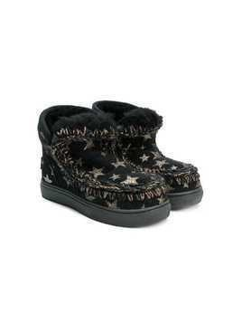 Mou Kids Eskimo star embellished boots - Black