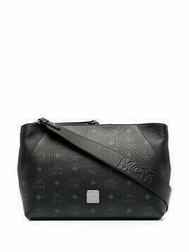 MCM Visetos-print leather bag - Black