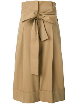 Alexander McQueen high waisted cropped trousers - Nude & Neutrals