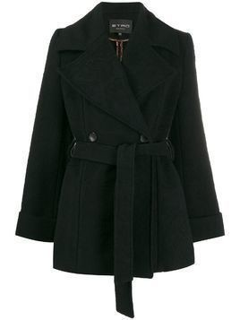 Etro textured print coat - Black