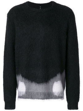 Oamc - colour block jumper - Herren - Mohair/Wool/Polyamide - XS - Black