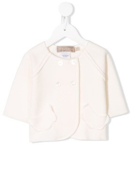 La Stupenderia double-breasted fitted jacket - White