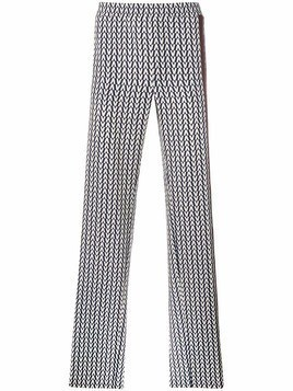 Valentino chevron print trousers - Blue